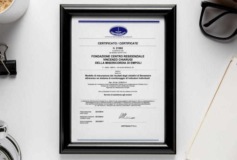 Certificazione del risultato di BenEssere