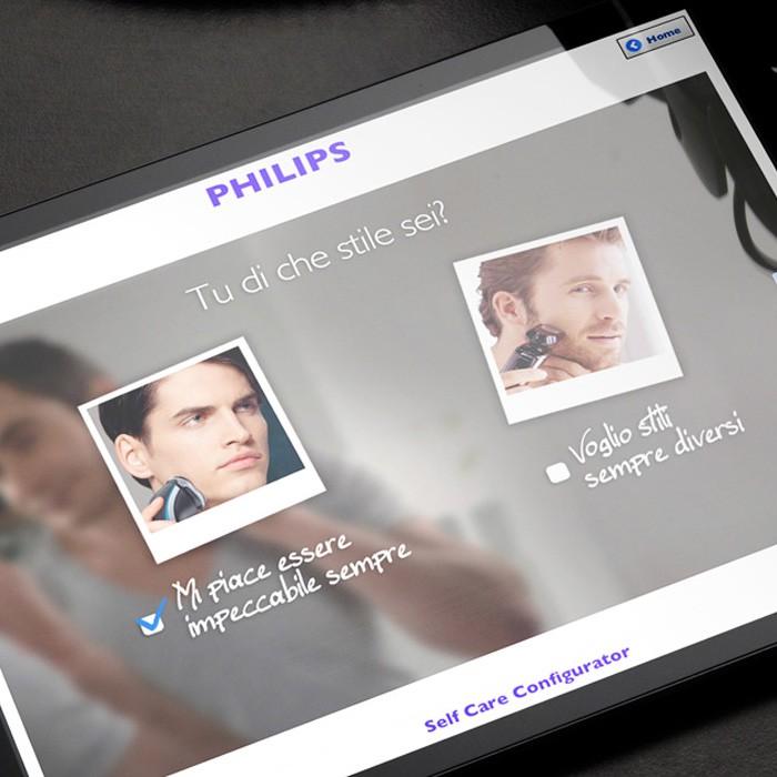 App per configurare le soluzioni alle esigenze di rasatura